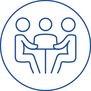 Icon Conflict Resolution and Mediation Blue