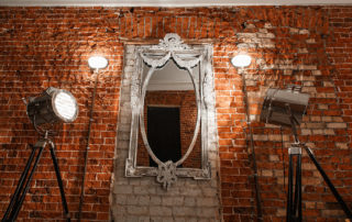 Old mirror on wall